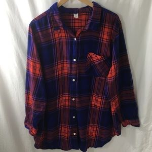 Old Navy 3X Plaid flannel shirt NWOT